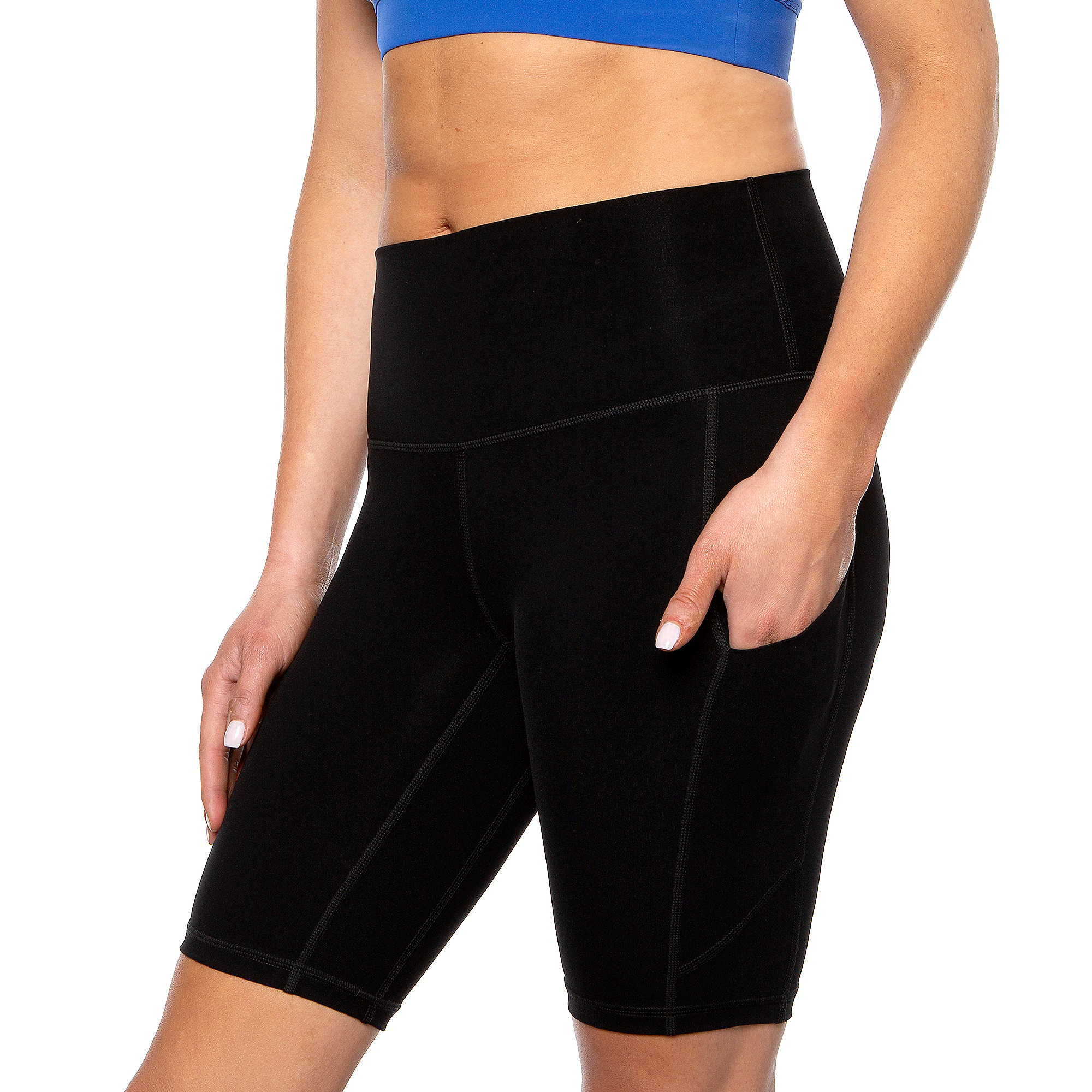 Studio KadyLuxe Womens Biker Short with Pocket