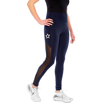 Studio KadyLuxe Womens Mesh Legging with Pocket