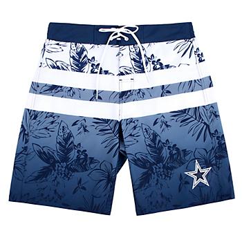 Dallas Cowboys Mens Free Style Swim Trunks