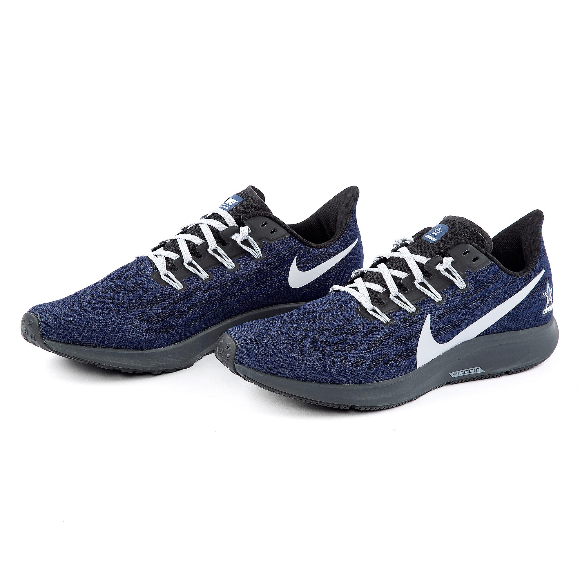 0188178e Dallas Cowboys Mens Nike Air Zoom Pegasus 36 Running Shoe   Dallas ...