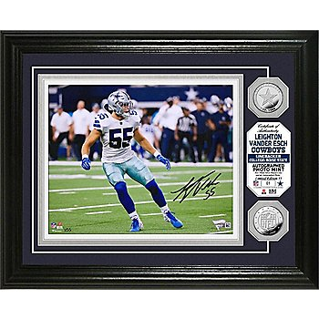Dallas Cowboys Leighton Vander Esch Autographed Photo Mint