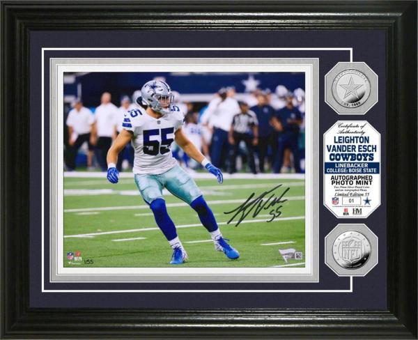 Dallas Cowboys Leighton Vander Esch Autographed Photo Mint