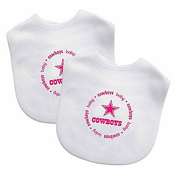 Dallas Cowboys 2-Pack Pink Logo Embroidered Bibs