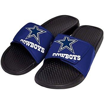 Dallas Cowboys Mens Cropped Logo Slides