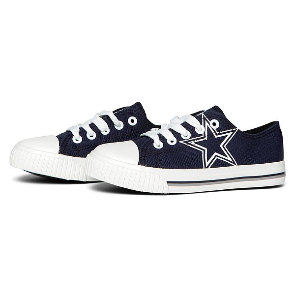 Dallas Cowboys Youth Low Top Canvas Shoes
