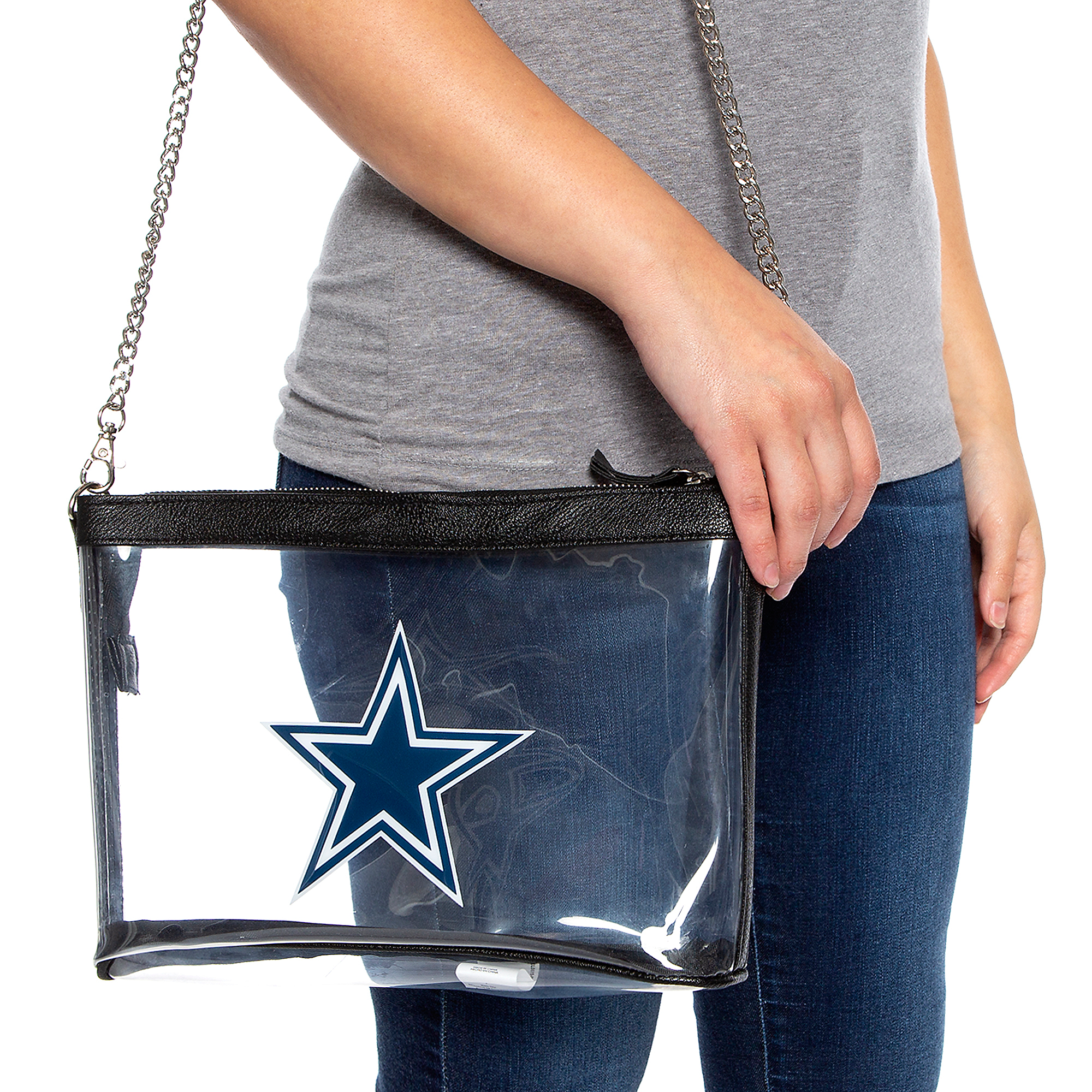 Dallas Cowboys Clear Chain Stadium Bag
