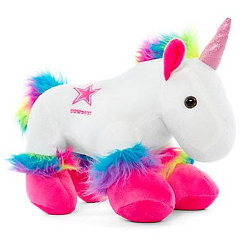 "Dallas Cowboys 9.5"" Plush Rainbow Unicorn"