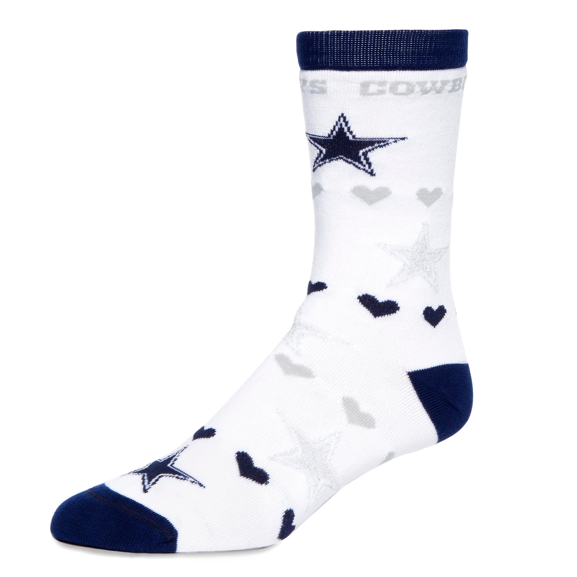 Dallas Cowboys Logos and Hearts Socks