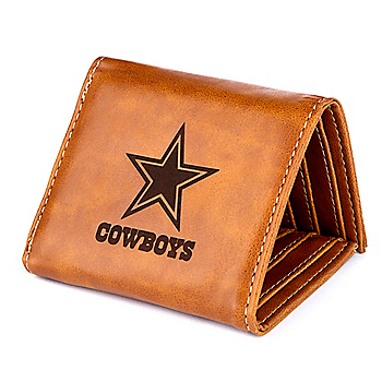 Dallas Cowboys Laser Engraved Tri-fold Wallet