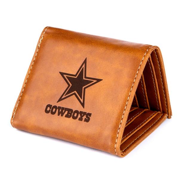 Dallas Cowboys Laser Engraved Tri-fold Wallet