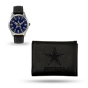 Dallas Cowboys Sparo Black Watch & Wallet Gift Set