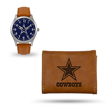 Dallas Cowboys Sparo Laser Engraved Watch & Wallet Gift Set