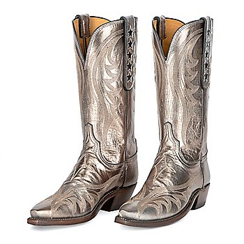 Dallas Cowboys Lucchese Womens Pewter 5-Star Boots