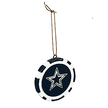 Dallas Cowboys Poker Chip Ornament