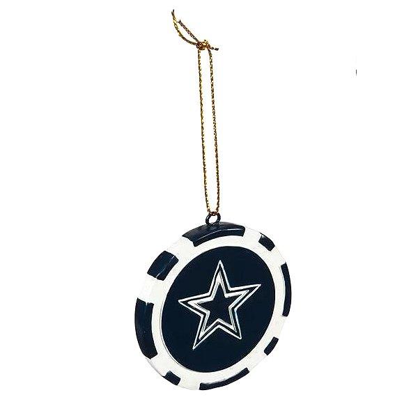 Dallas Cowboys Poker Chip Ornament