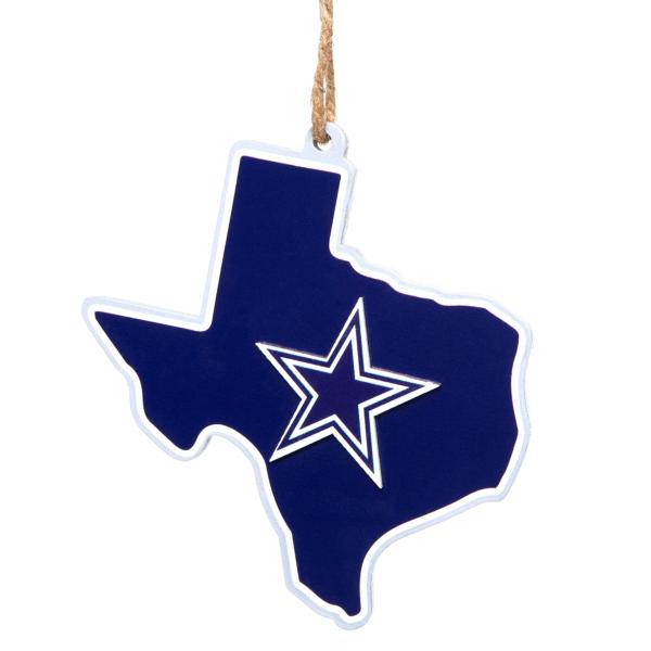 Dallas Cowboys State of Texas Ornament
