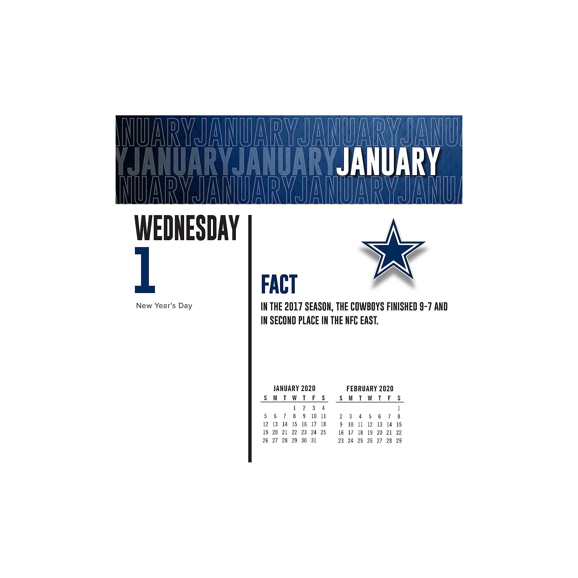 Dallas Cowboys Schedule 2020.2020 Dallas Cowboys Team Box Wall Calendar Dallas Cowboys