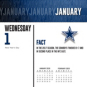 2020 Dallas Cowboys Team Box Wall Calendar