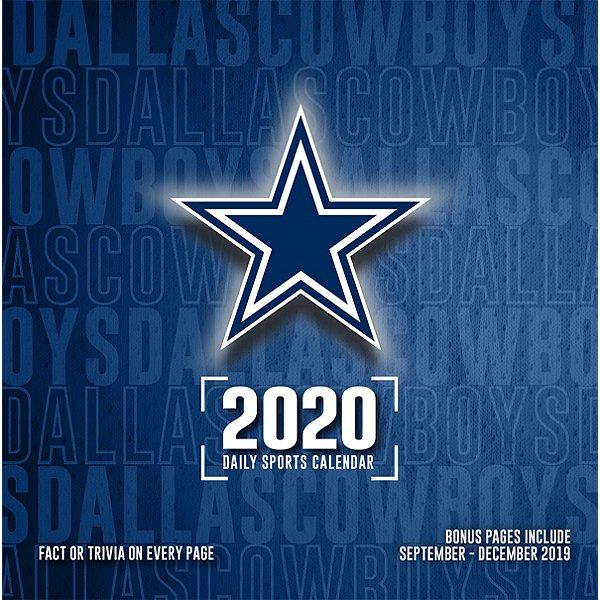 2020 Dallas Cowboys Team Box Wall Calendar