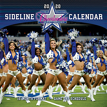 2020 12x12 Dallas Cowboys Cheerleaders Wall Calendar