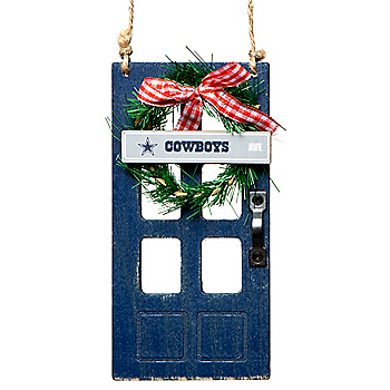 Dallas Cowboys Wooden Door Ornament
