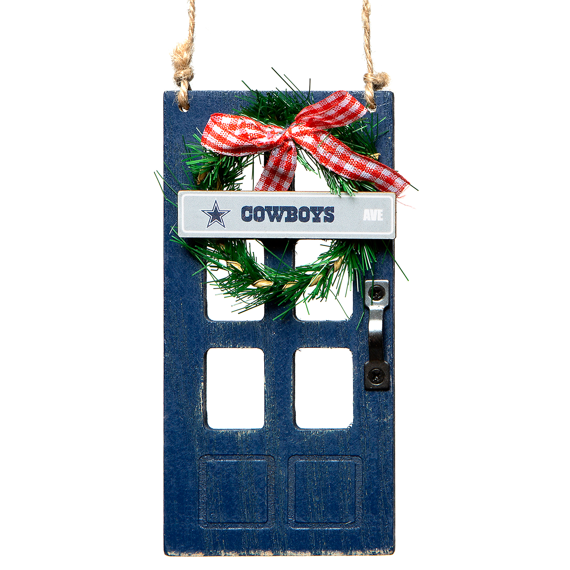 Dallas Cowboys Wooden Door Ornament