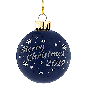 Dallas Cowboys 2019 Glass Ball Ornament