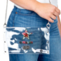 Dallas Cowboys Clear Floral Envelope Purse