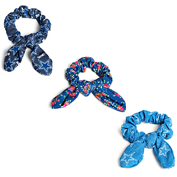 Dallas Cowboys 3-Pack Bow Scrunchie