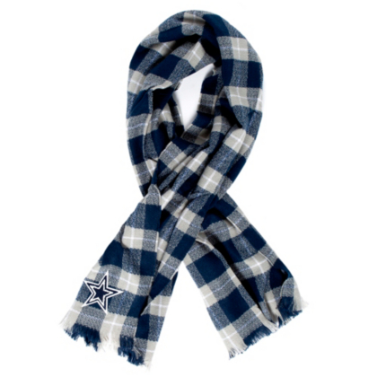 Dallas Cowboys Plaid Blanket Scarf