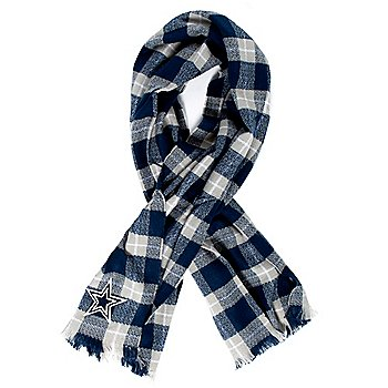 Dallas Cowboys Plaid Blanket Scarf