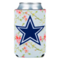 Dallas Cowboys Floral Can Cooler