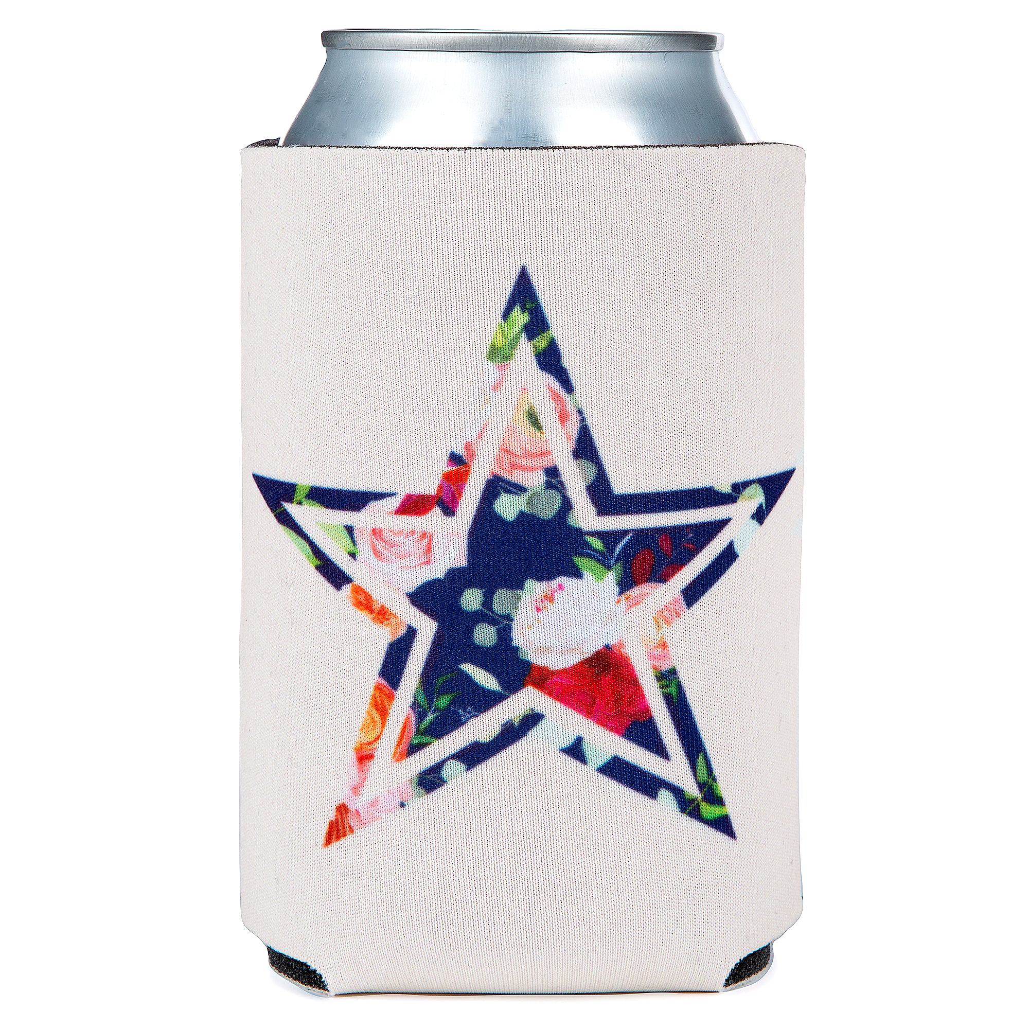 Dallas Cowboys Floral Can Cooler