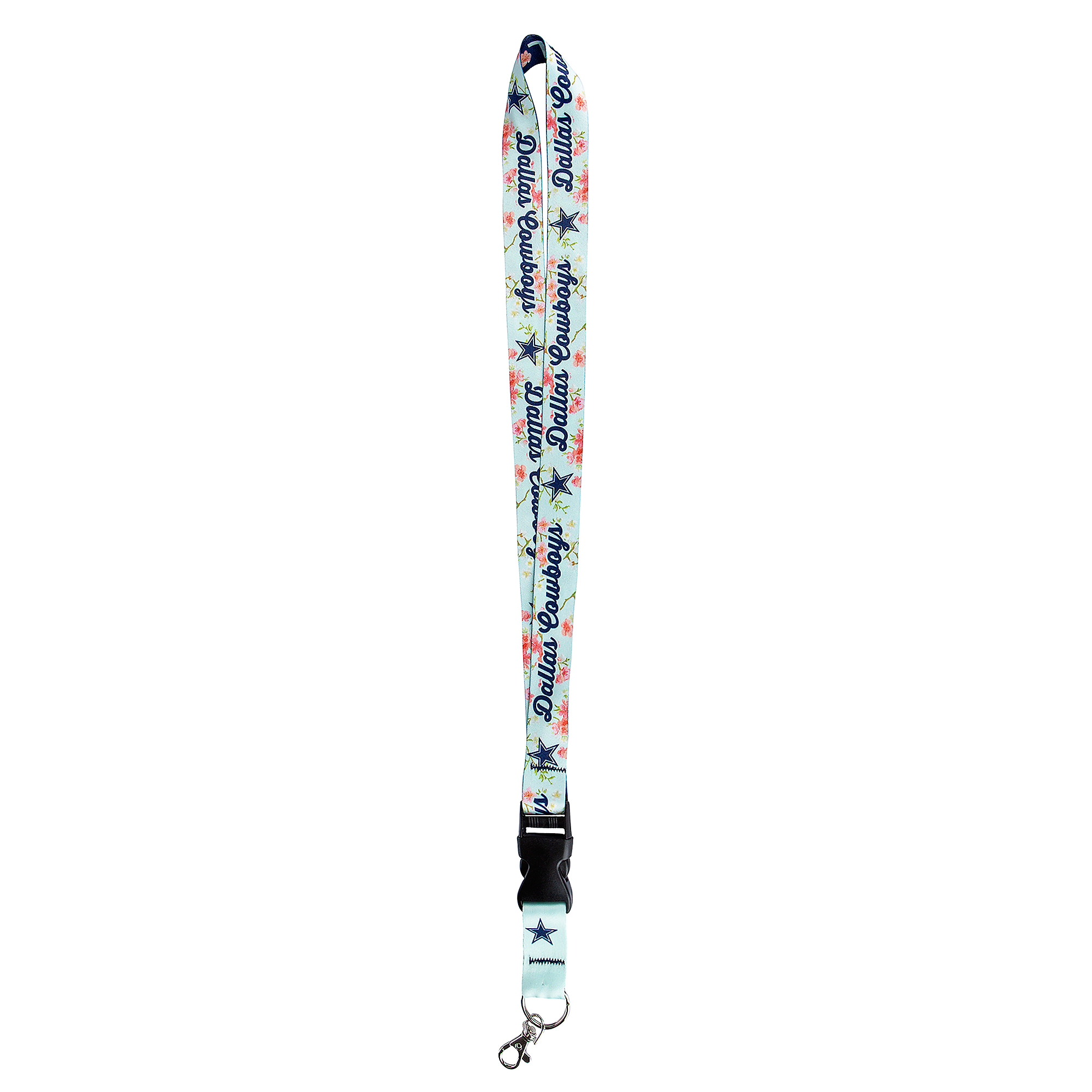 Dallas Cowboys Floral Double Sided Lanyard