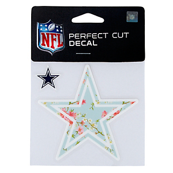 Dallas Cowboys Floral 4x4 Star Decal