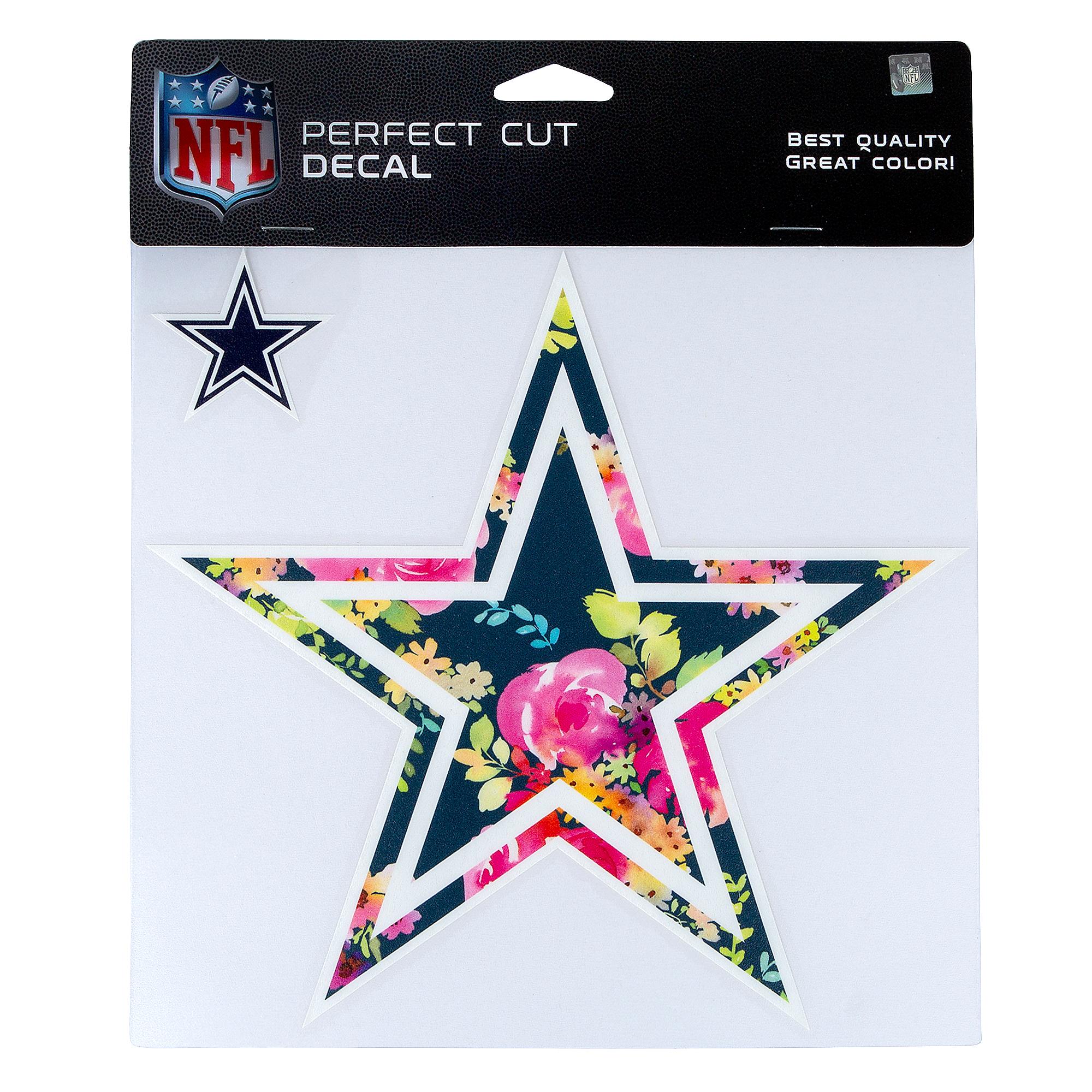 Dallas Cowboys Floral 8x8 Star Decal