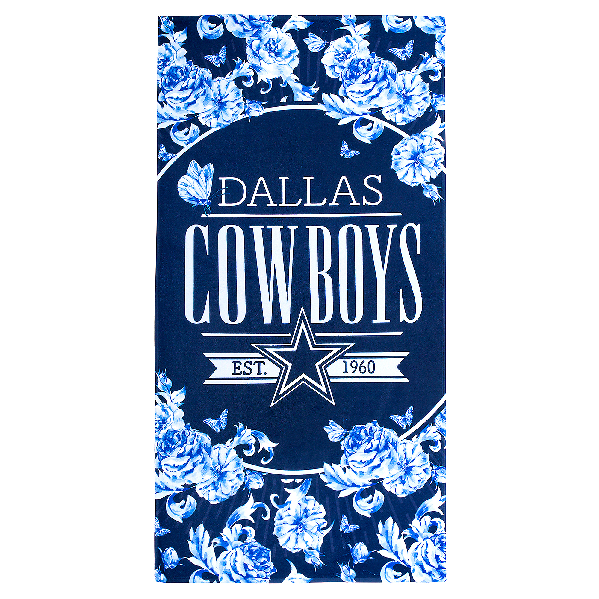 Dallas Cowboys Floral Beach Towel