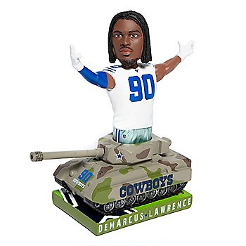"Dallas Cowboys 10"" DeMarcus Lawrence Tank Bobblehead"