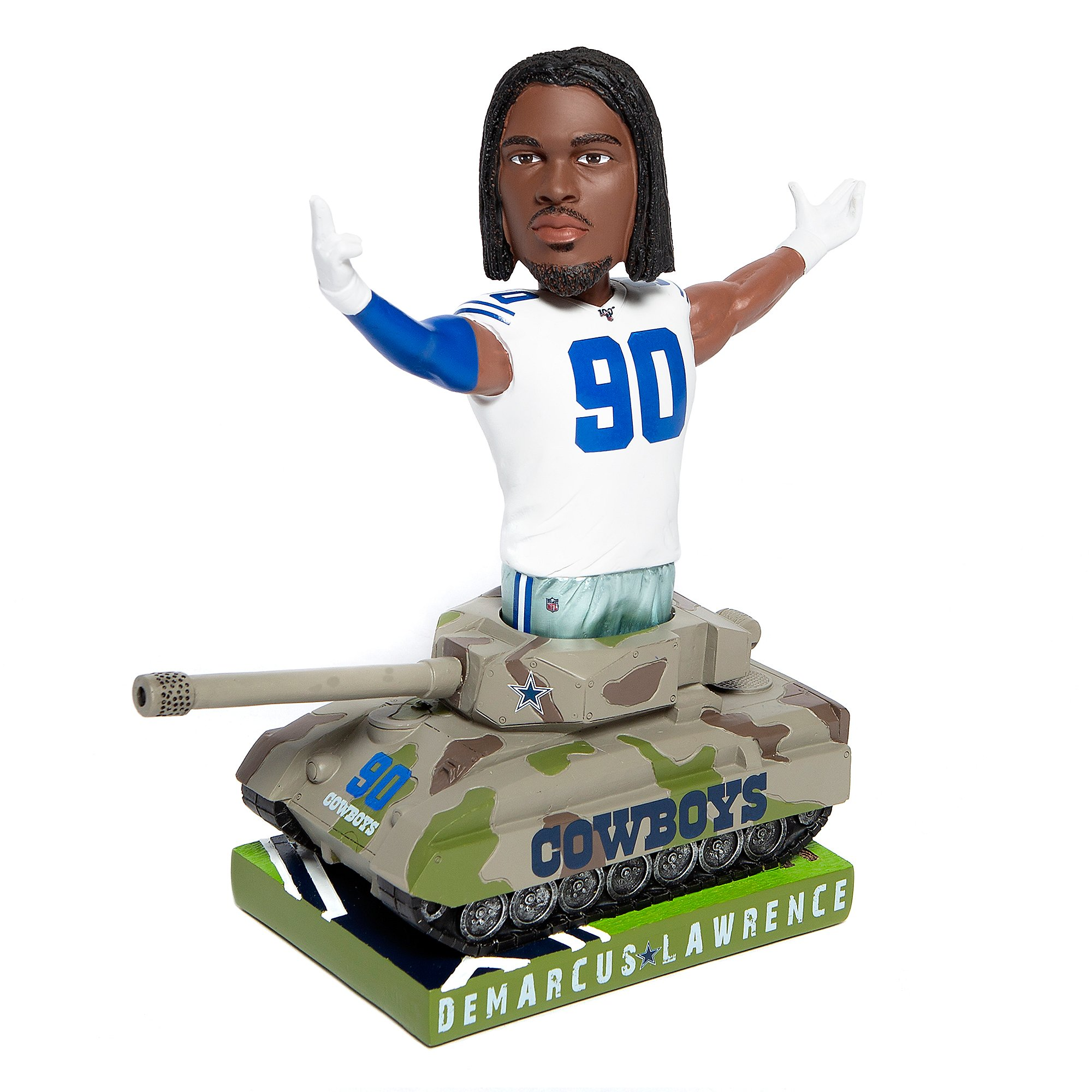 "Dallas Cowboys 10"" DeMarcus Lawrence Tank Bobblehead"