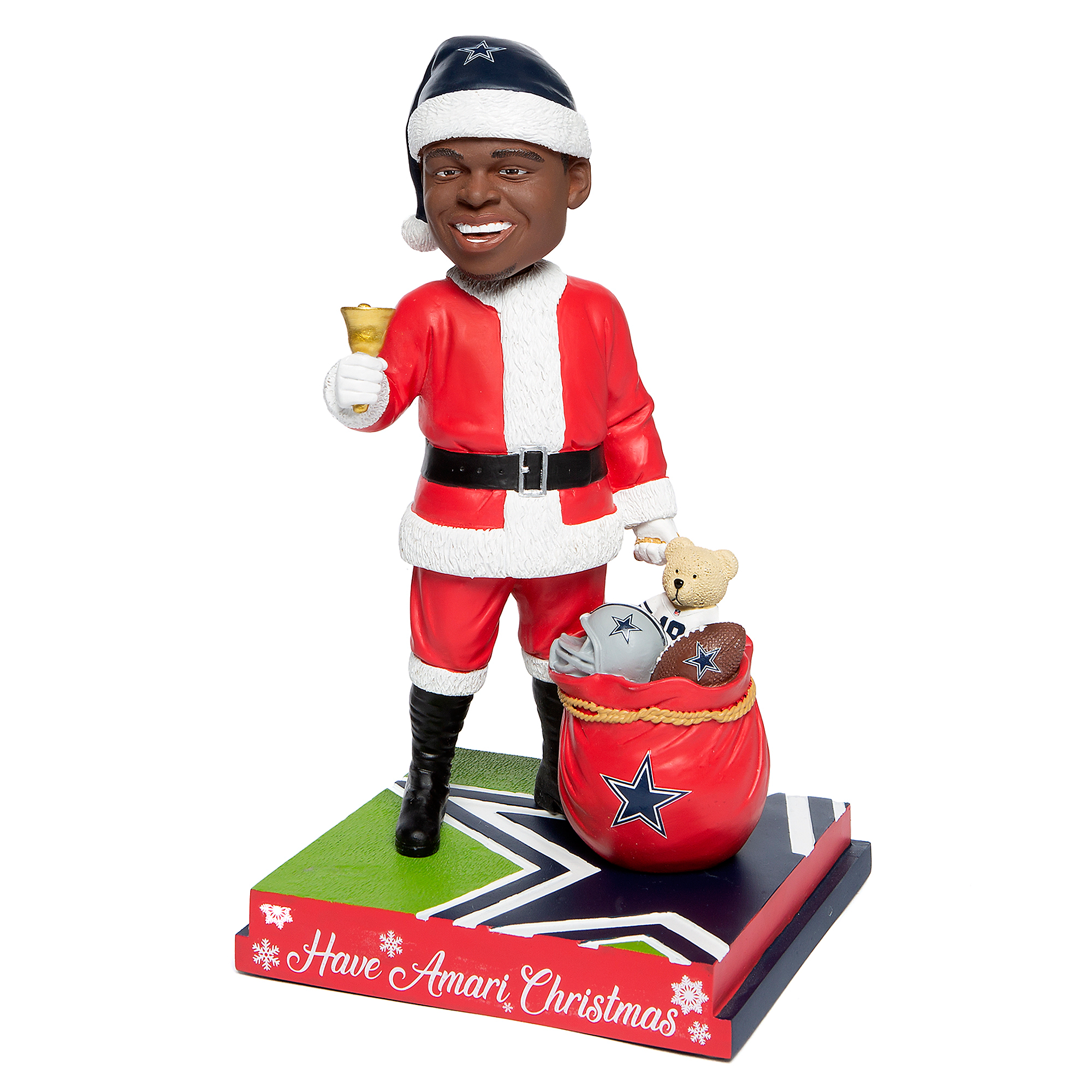 "Dallas Cowboys 10"" Amari Cooper Christmas Bobblehead"