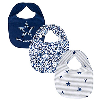 Dallas Cowboys All Pro Baby Bib 3-Pack Set