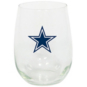 Dallas Cowboys 15 oz. Stemless Wine Glass
