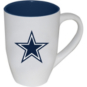 Dallas Cowboys 20 oz Matte White Mug