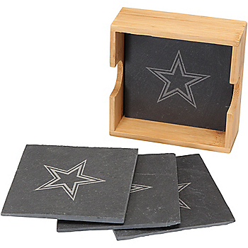 Dallas Cowboys Slate Square Coaster Set