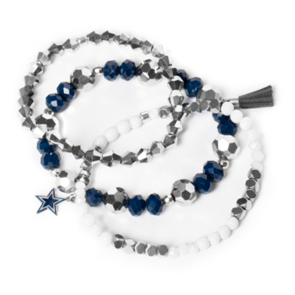 Dallas Cowboys Beaded Bracelet Set Pro