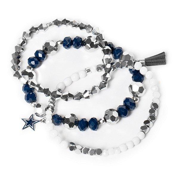 Dallas Cowboys Beaded Bracelet Set