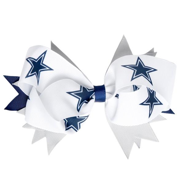 Dallas Cowboys Three Color Hair Bow Clip