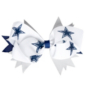 Dallas Cowboys Three Color Hair Bow Clip