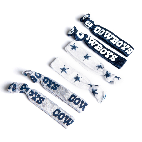 Dallas Cowboys 6-Pack Knotted Hair Ties