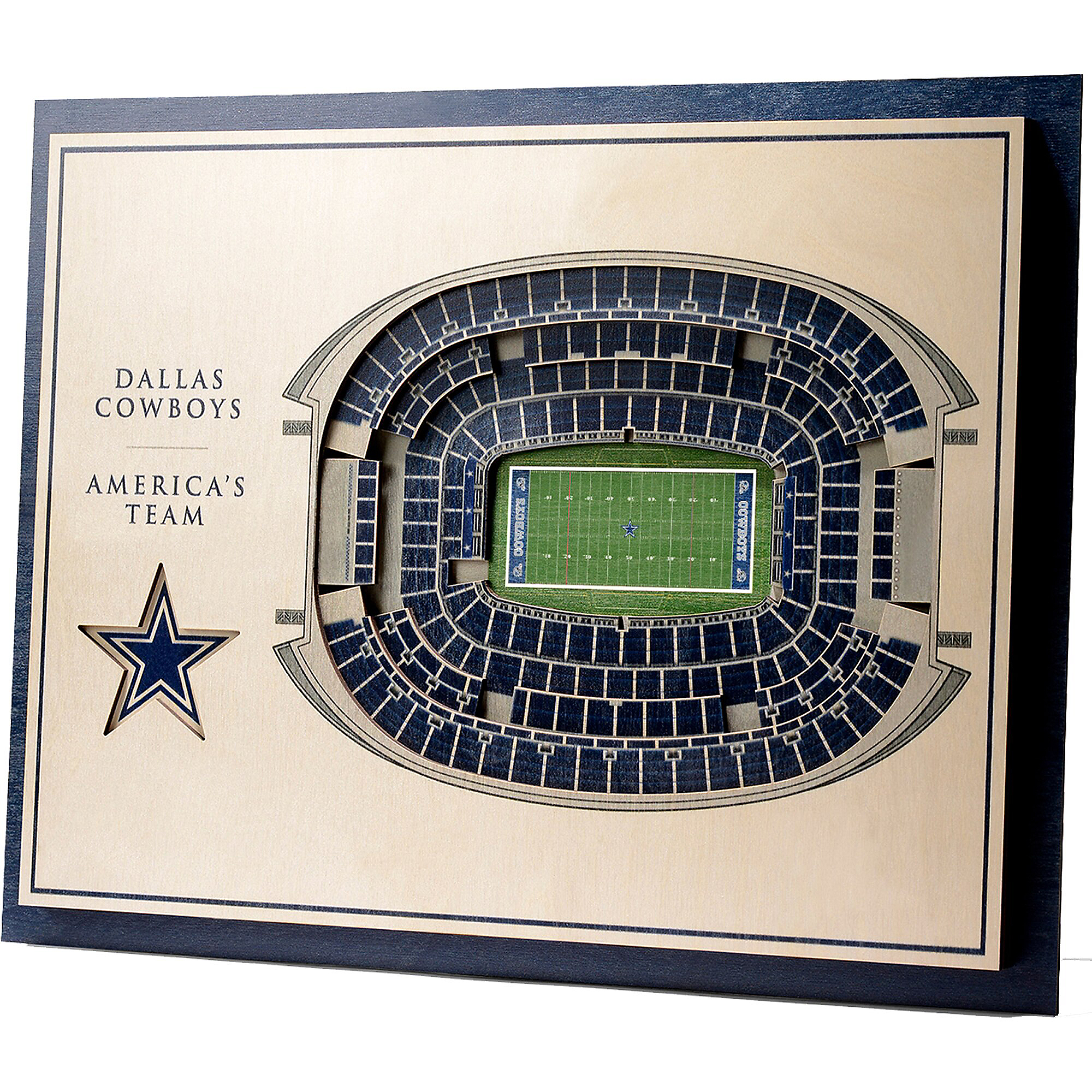 Dallas Cowboys 3D Stadium Wall Art